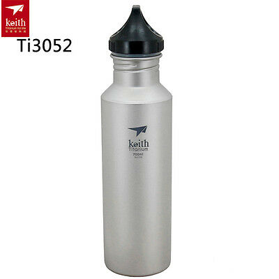 Keith 700ml Titanium Kettle Sports Water Bottles Outdoor Hiking Portable