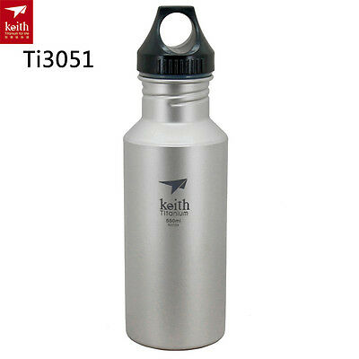 Keith 550ml Titanium Kettle Sports Water Bottles Outdoor Hiking Portable