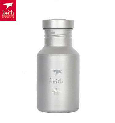 Keith 400ml Titanium Outdoor  Water Bottle Camping Running Cycling Bottle