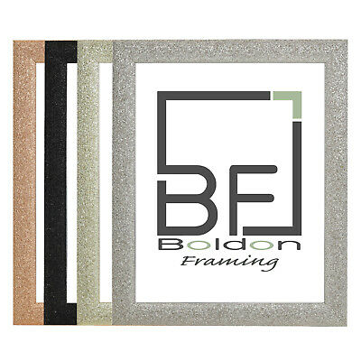 Dazzle Range Sparkle Glitter Effect Picture Photo Frames
