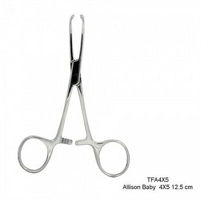4X5 Baby Allison Tissue Forceps(12.5cm)Dental Instruments Shipped Fr Canada