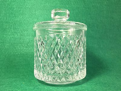 Beautiful Heavy Full Lead Irish Handblown Crystal Diamond Cut Jar