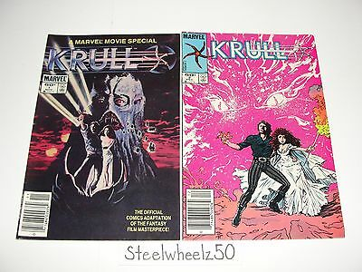 Krull #1 & 2 Comic Lot Marvel Movie Special 1983 Cult Classic Movie Adaptation