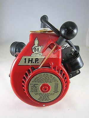 Vintage NEW O&R 1 HP Gas Engine with Pull Start for Model Airplane or Boat