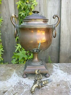 Antique Small Late 19th Century Copper Samovar for restoration.