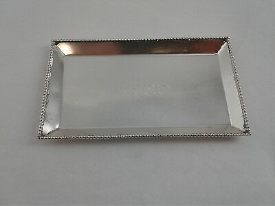 """3.75 x 6.25"""" Tray Plate - Sterling Silver 925 - 84 g - engraved, see description"""