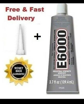 E6000 Glue Industrial Strong Jewellery-Rhinestones Crystals Crafts 110 ml/3.7oz