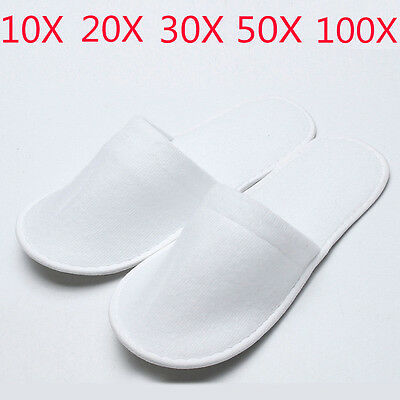 10 20 30 Pairs Disposable Slippers Towelling Hotel Slippers Spa Guest Travel