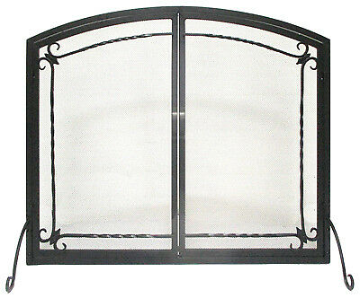 Panacea Products 15956 Fireplace Screen, Flat Panel, Black