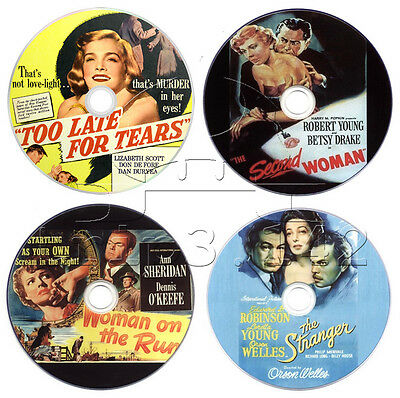 Film-Noir Movie DVD Collection: The Stranger, Second Woman, Too Late for Tears..