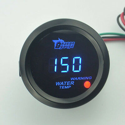 "CAR AUTO MOTOR 2"" 52mm BLUE LED DIGITAL WATER TEMP TEMPERATURE CELSIUS GAUGE NEW"