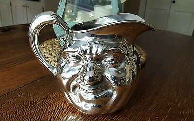 VINTAGE REED & BARTON 5640 Silverplate  SUNNY JIM Water Pitcher RARE Smiley Face