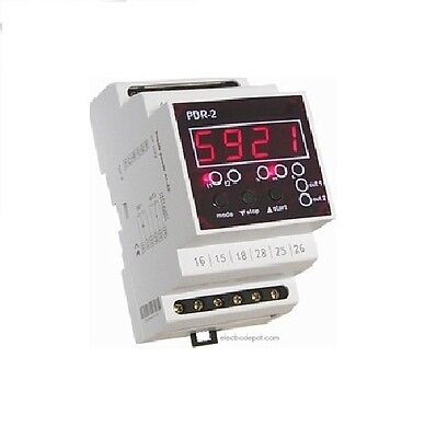 Dual Multifunction Digital Timer Off On Delay Cyclic 12V 120V to 240V 0 to 60h