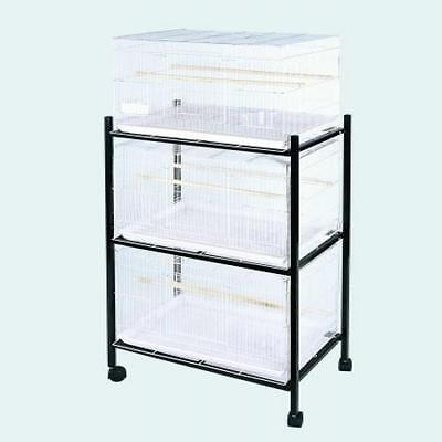 A & E Cage 503 Stand-3 White 3 Tier, Stand for 503 Cages