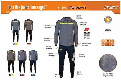 Givova Tuta Relax Training Modello Tuta One Jeans (Melanged ) Art. Tr025
