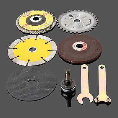 Angle Grinder Saw Blades Disc Wheel Polished Pad Cut Off Grinding Rotary Kit R2S