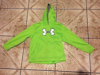 Youth Under Armour Storm Hoodie Size XL X-Large Green Pullover Polyester