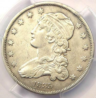 1835 Capped Bust Quarter 25C - PCGS XF Details (EF) - Rare Early Date Coin!
