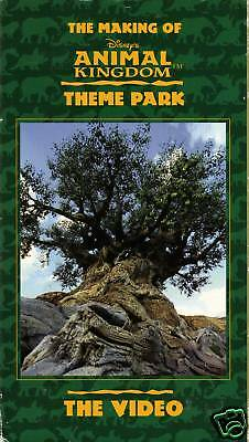 """the Making Of Disney's Animal Kingdom Theme Park""........oop Souvenir Vhs Video"