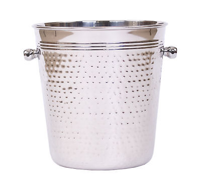 Epicurean Champagne Wine Bucket Cooler Hammered Stainless Steel Drink Party Gift