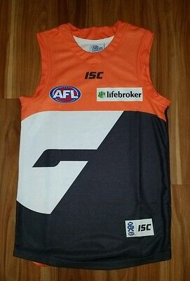 AFL GWS Greater Western Sydney Giants Jersey Authentic Mens Small New