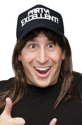 Excellent Wayne's World Costume Wig and Hat Costume Accessory