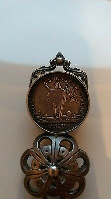 1764 Knights Of Malta Silver Coin & Silver Letter Opener