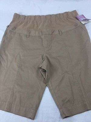 Motherhood Oh Baby Mid Belly Brown Shorts - Size Xlarge  New With Tags
