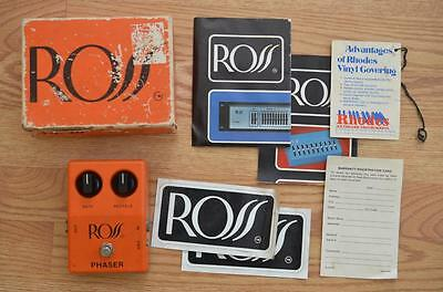 Ross Phaser Vintage Guitar Effects Pedal w/ Retail Box & Swag - Phasor Phase
