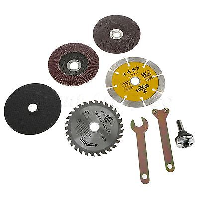 8pcs Angle Grinder Cutting Grinding Cut Off Saw Blade Wheel Disc Rotary Tool Kit