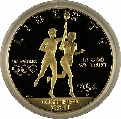 1984 USA Olympics $10 & $1 Dollars Commemorative Gold & Silver (2 coins total)