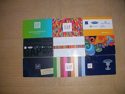 GAP  9 different new collectible gift cards