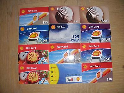 Shell  12 different new collectible gift cards