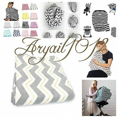 10 In 1, Nursing Cover Scarf for Breastfeeding Grey And Gold