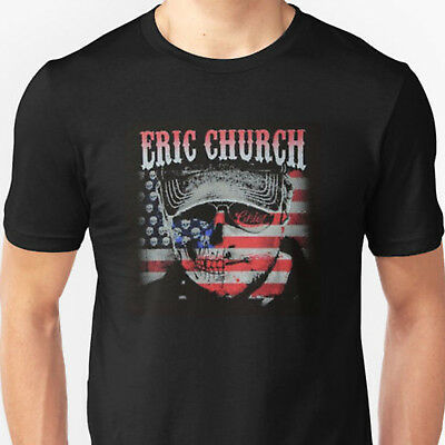 ERIC CHURCH TOUR Mens T-Shirt Black Size S , M , L , XL , XXL , 3XL