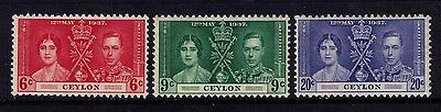 Ceylon 1937, Coronation Issue,SC# 275-7 Cpl.MNH Set
