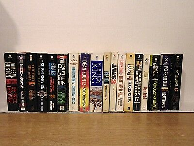 18 Paperback Mystery And Action Books