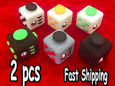 2 Pcs Magic Fidiget Cube Stress Relief Figget Fidget Focus Gift For Adult Kids