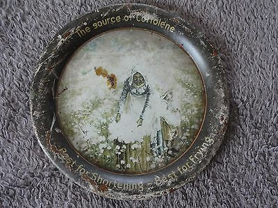 Ca. 1905 Antique COTTOLENE LARD Metal Litho Sign Advertising Tip Tray