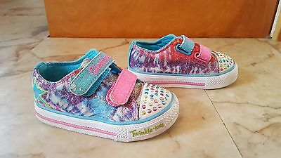 Toddler girl SKECHERS Twinkle Toes light up shoes sneakers size 6