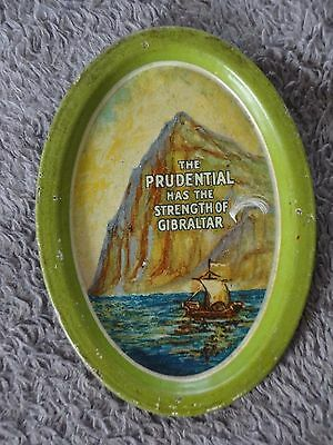 Ca. 1915 Original PRUDENTIAL INSURANCE Metal Litho Advertising Tip Tray