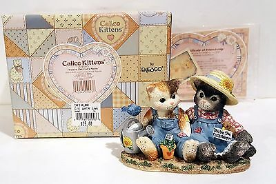 Enesco Calico Kittens YOU'RE THE CAT'S MEOW 204005 Watering Can NIB