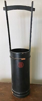 Antique Japanese Lacquer Bucket with Family Crest
