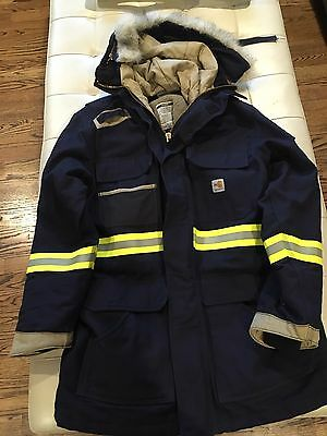 ONLY ONE MADE Carhartt FR Fire Flame Resistant XL Men's Fireman's Jacket Coat