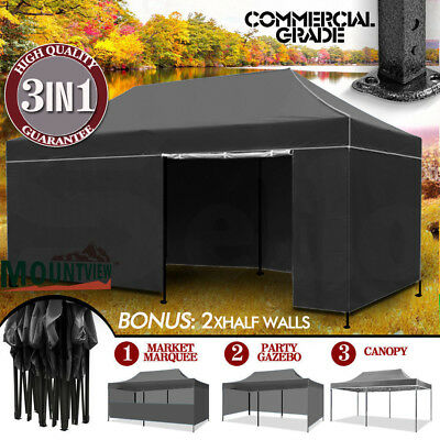 NEW 3x6 POP UP OUTDOOR GAZEBO FOLDING TENT PARTY MARQUEE SHADE CANOPY