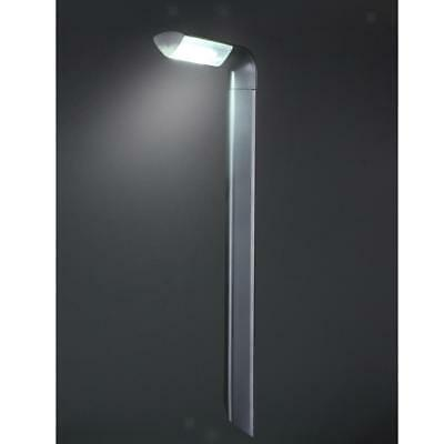 LED Solar Powered Stainless Steel Stake Lights Lawn Pathway Yard Garden Lamp