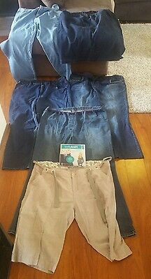 Bundle Maternity Pregnancy jeans, Shorts Skirt sizes 16 18 XL Maternity belt.