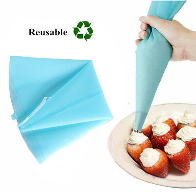 Reusable Silicone Icing Piping Bags Cream Pastry Cake Dessert Decorating Tools