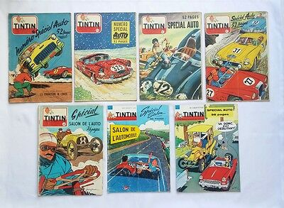 Lot Journal Tintin Special Auto 2 3 400 433 453 468 571 / HERGE / BD