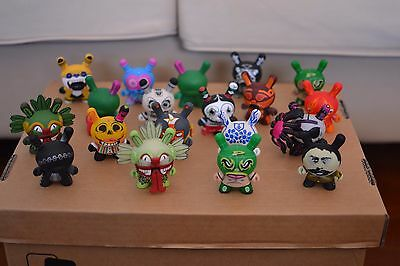 Kidrobot Dunny Azteca Series 1 Complete Collection Including Rare & Chase